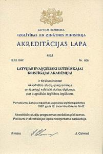 akreditācijas lapu